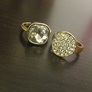 Old Navy gold and cz rings